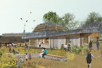 Artists' impression of Camley Street Natural Park's new visitor and learning centre