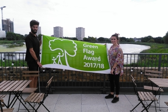 First green flag for Woodberry Wetlands
