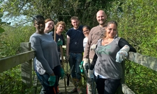 Volunteers at Denham Lock Wood