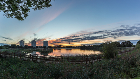 Woodberry Wetlands sunset