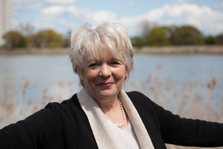 London Wildlife Trust ambassador Alison Steadman