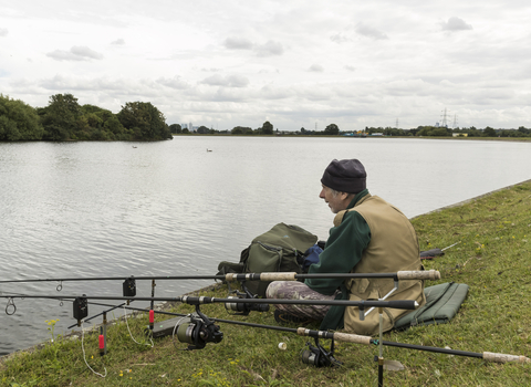 Fishing at Walthamstow Wetlands